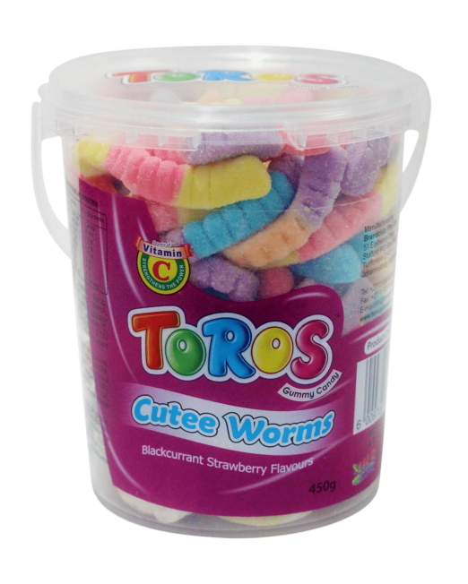 450g Round Tub - Cutee Worms-min