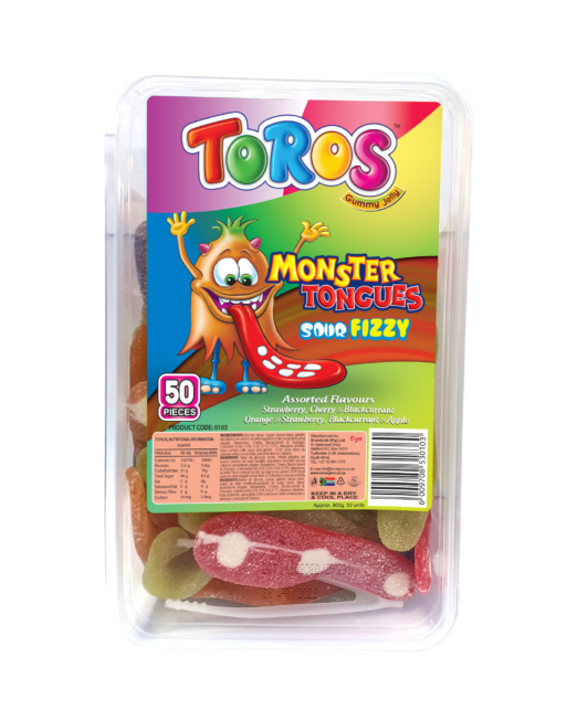 Toros Monster Tongue_ Tub 50s_ Asorted Front
