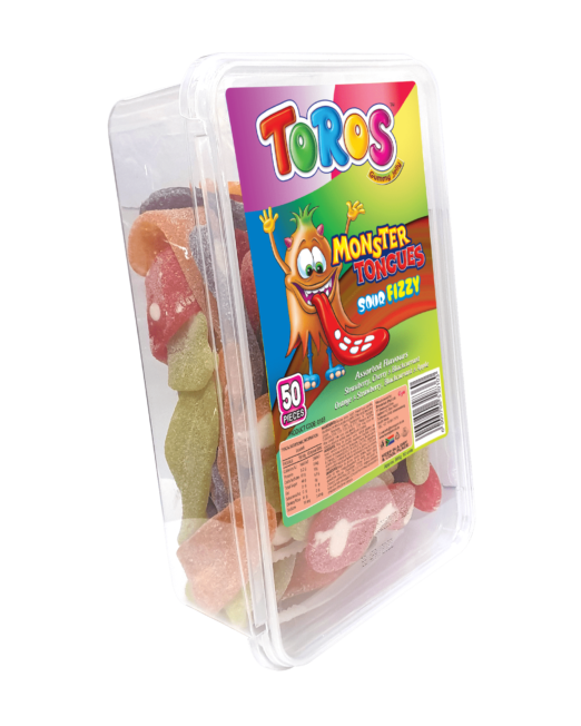 Toros Monster Tongue_ Tub 50s_ Assorted_ Sideview-min