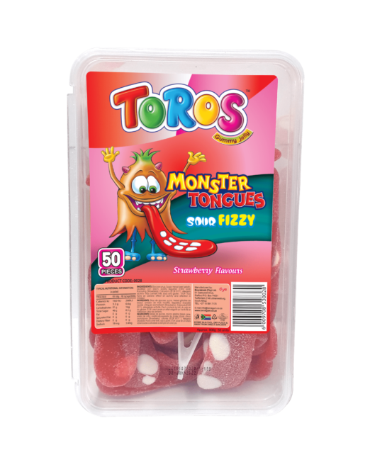 Toros Monster Tongue_ Tub 50s_ Strawberry_Front-min